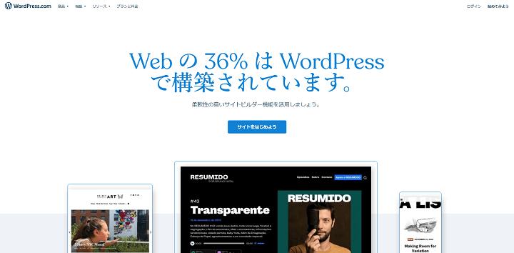 WordPressのトップページ